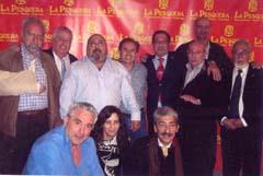 El presidente del Grupo Pesquera, Ramón Mesas, natural de Baza (Granada), acompañado de una nutrida representación de la Junta Directiva de la Fecace.