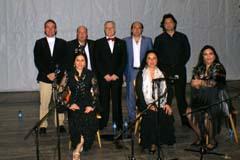 Los artistas que participaron en el festival.