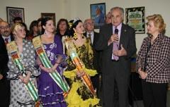 Rafael Blasco y Purificación Torres durante la inauguración de la nueva sede de la FECACV.