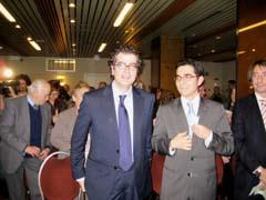 El viceconsejero de Justicia de la Junta, José Antonio Ortiz, y el delegado en Bruselas, Nicolás Cuesta.