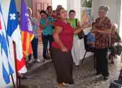 Un momento de la fiesta en Cienfuegos.