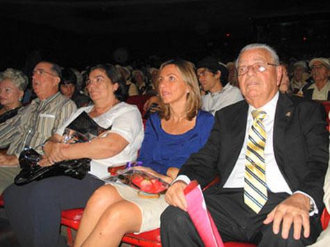 Guillermina Hernández, Elsa Casas y Carmelo González en el 6º Festival de Tradiciones Canarias en Cuba.