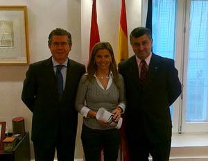 Francisco Granados, Victoria Cristóbal y Gerardo Bongiovanni.