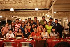 Los jóvenes participantes en el Seminario de Danza Tradcional Gallega.