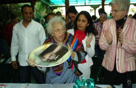 Melba Hernández del Rey asistió al acto.