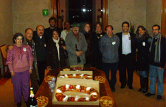 El roscón de Reyes fue protagonista en la celebración de la Casa en México.