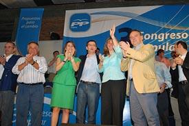 Benito Grande, María Dolores de Cospedal, Alberto Núñez Feijóo, Esperanza Romariz y Alfredo Prada.