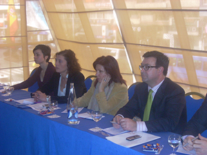 Pilar Pin en un momento del acto de clausura del Programa