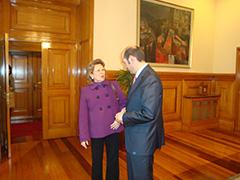 Marta Echarte Baraibar y Rafael Louzán.