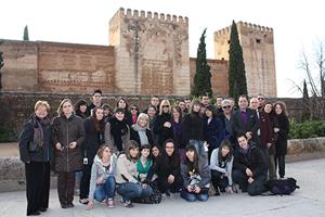 Los jóvenes pudieron visitar la Alhambra.