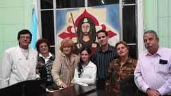 Manolo Sabín, Ada Oramas, Aurora Pita, Lisandra Quintana, Sixto Gómez, Nora Sosa y Manuel Barros.