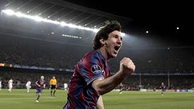 Lionel Messi celebra uno de los goles conseguidos ante el Stuttgart. (Foto: EFE)