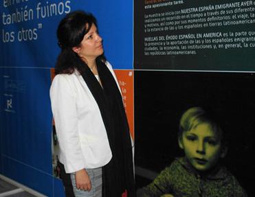 Pilar Pin recorrió la muestra.