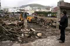 Tareas de limpieza en Santa Cruz de Tenerife (Foto: EFE)