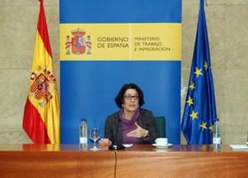 Anna Terrón en su comparecencia ante los medios.