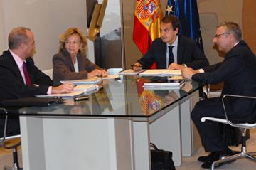 Sebastián, Salgado, Zapatero y Blanco.