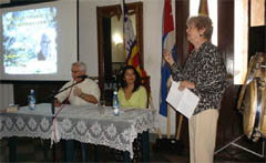 Conferencia en el Centro Balear de Cuba.