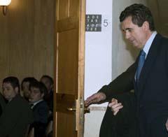 Jaume Matas se dirige a declarar. (Foto: EFE)