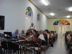 Asistentes a la reunión en Cienfuegos.