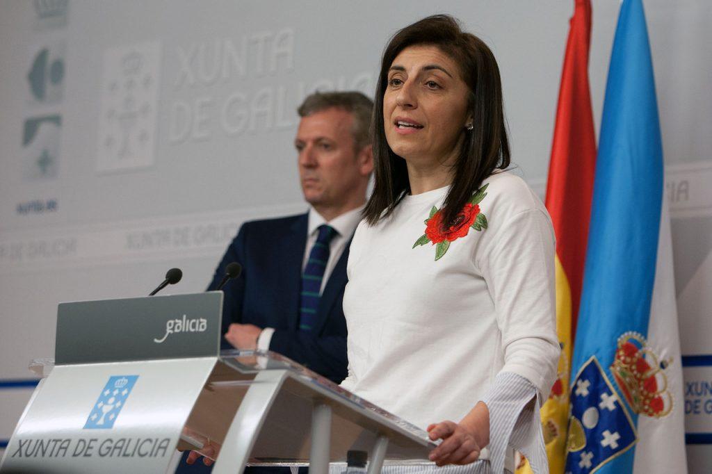 La conselleira do Medio Rural, Ángeles Vázquez, explicó las novedades del Pladiga 2018 en presencia del vicepresidente de la Xunta, Alfonso Rueda, tras el Consello.