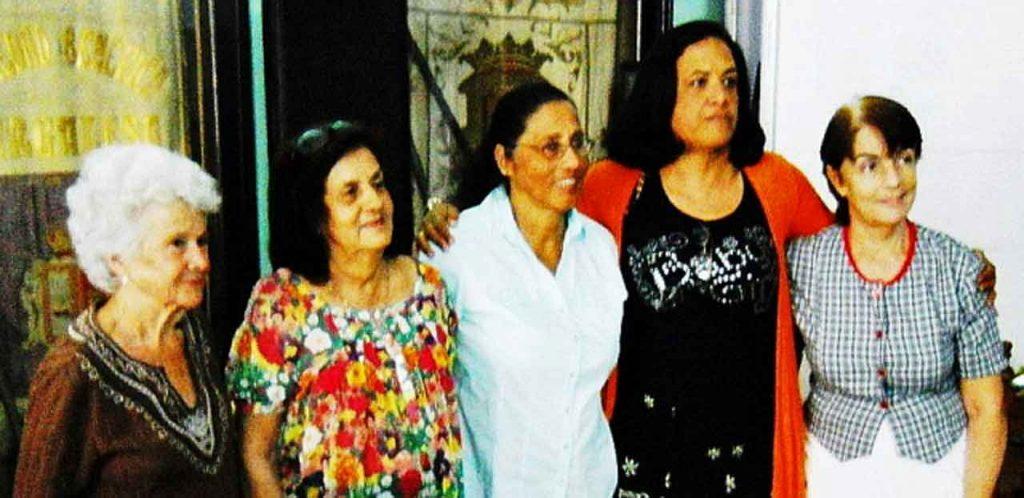 Elena Llimó, María Antonia Rabanillo, María Felicidad Amat, María Caridad Colón y María Aurora Pérez Guardamino.