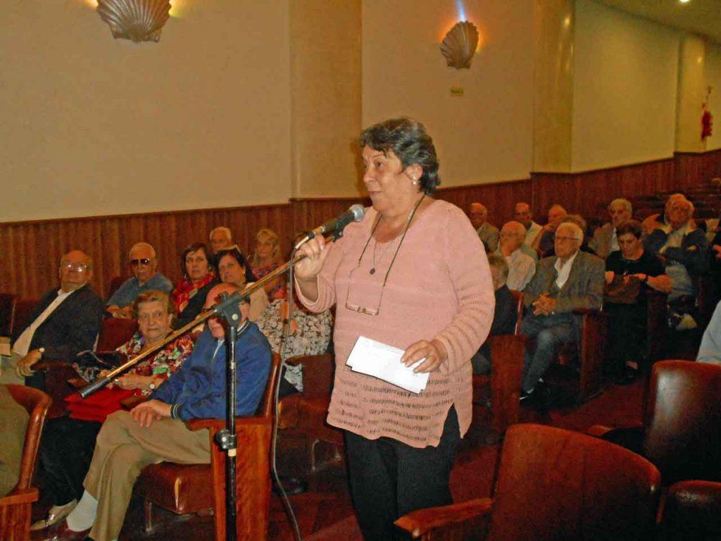 Aída Díaz ofició de portavoz de los representantes de socios.
