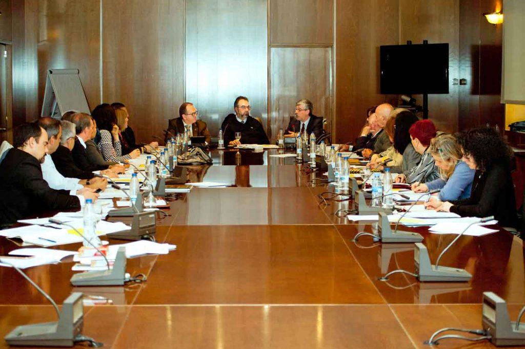Un momento de la reunión el pasado lunes 9 de abril.