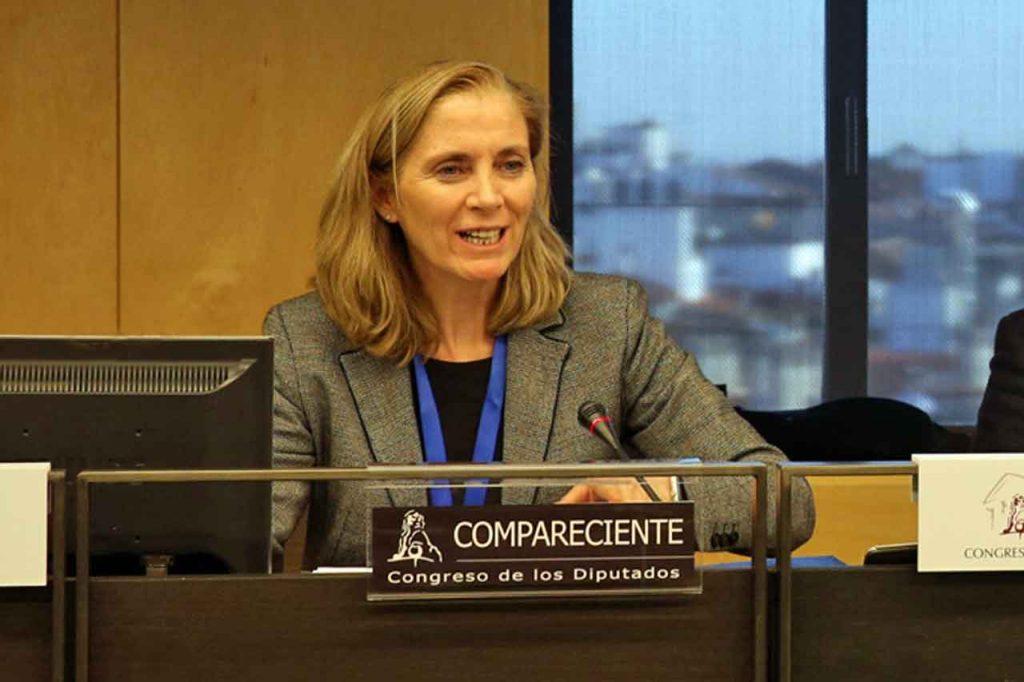 Marina del Corral compareció en el Congreso el jueves 19 de abril.