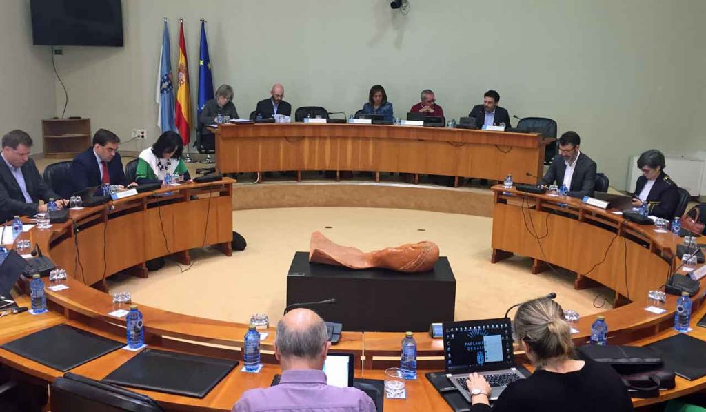 Comparecencia de Miranda ante la Comisión 1ª Institucional, de Administración Xeral, Xustiza e Interior.