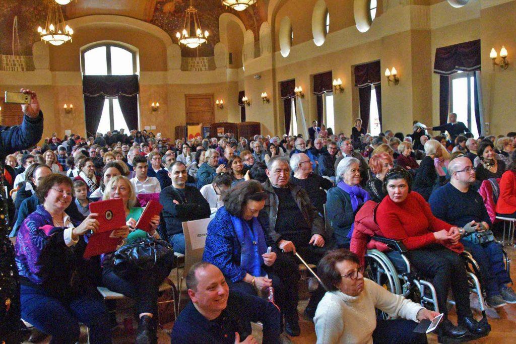 Vista de los asistentes al evento.