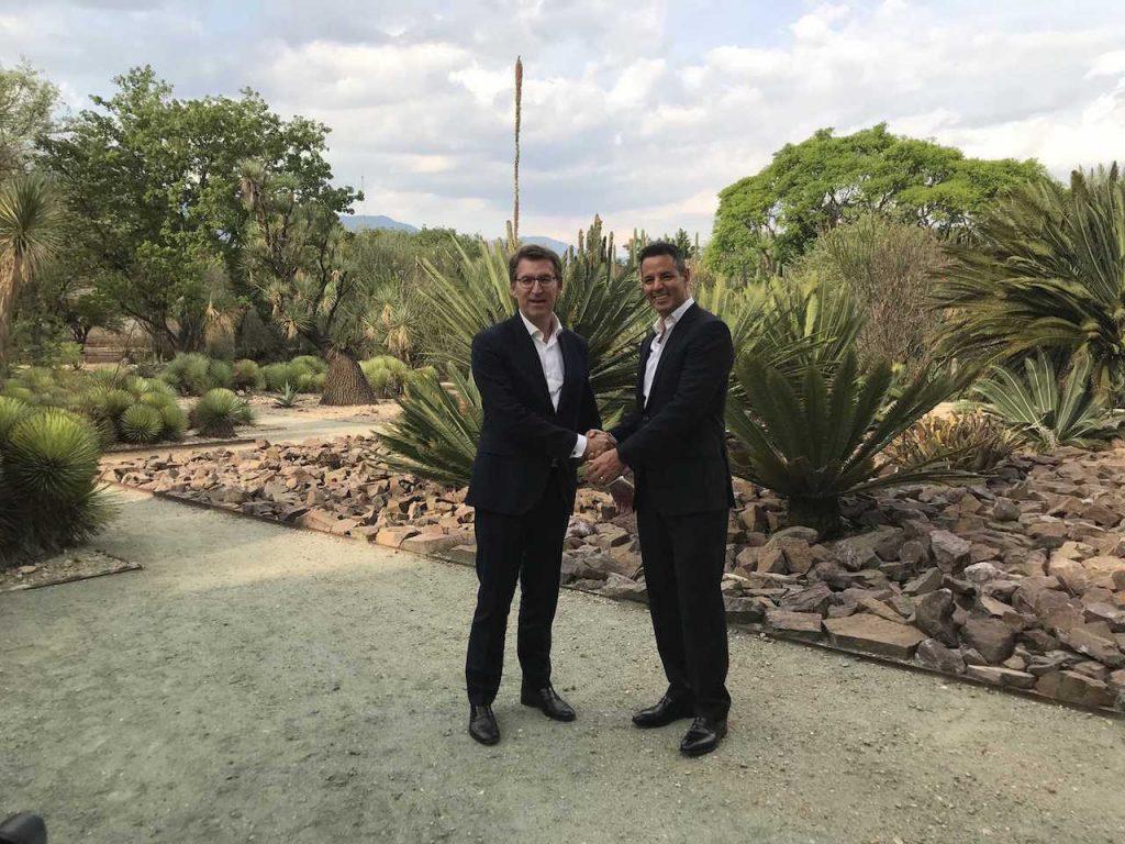 El presidente de la Xunta se reunió con el gobernador Constitucional del Estado de Oaxaca, Alejandro Murat Hinojosa.
