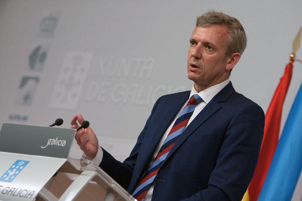 El vicepresidente del Gobierno gallego, Alfonso Rueda, realizó en la rueda de prensa del Consello, un balance de los dos primeros años de la Tarxeta Benvida.