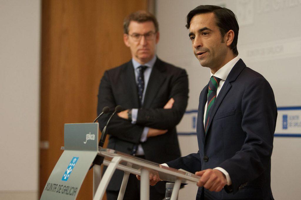 El conselleiro de Política Social, José Manuel Rey Varela, compareción tras el Consello.