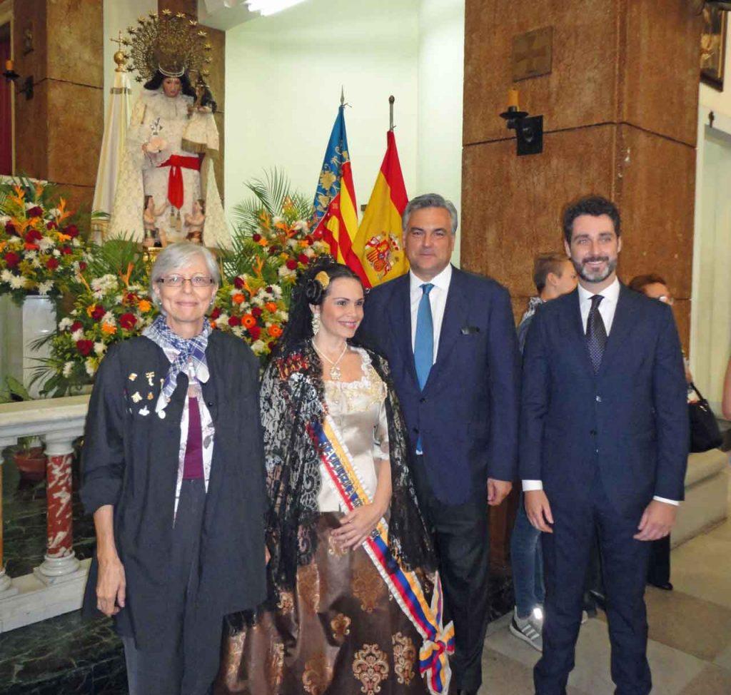 Mercedes Hernández, María Luisa Urbina, Jesús Silva y Julio Navas.