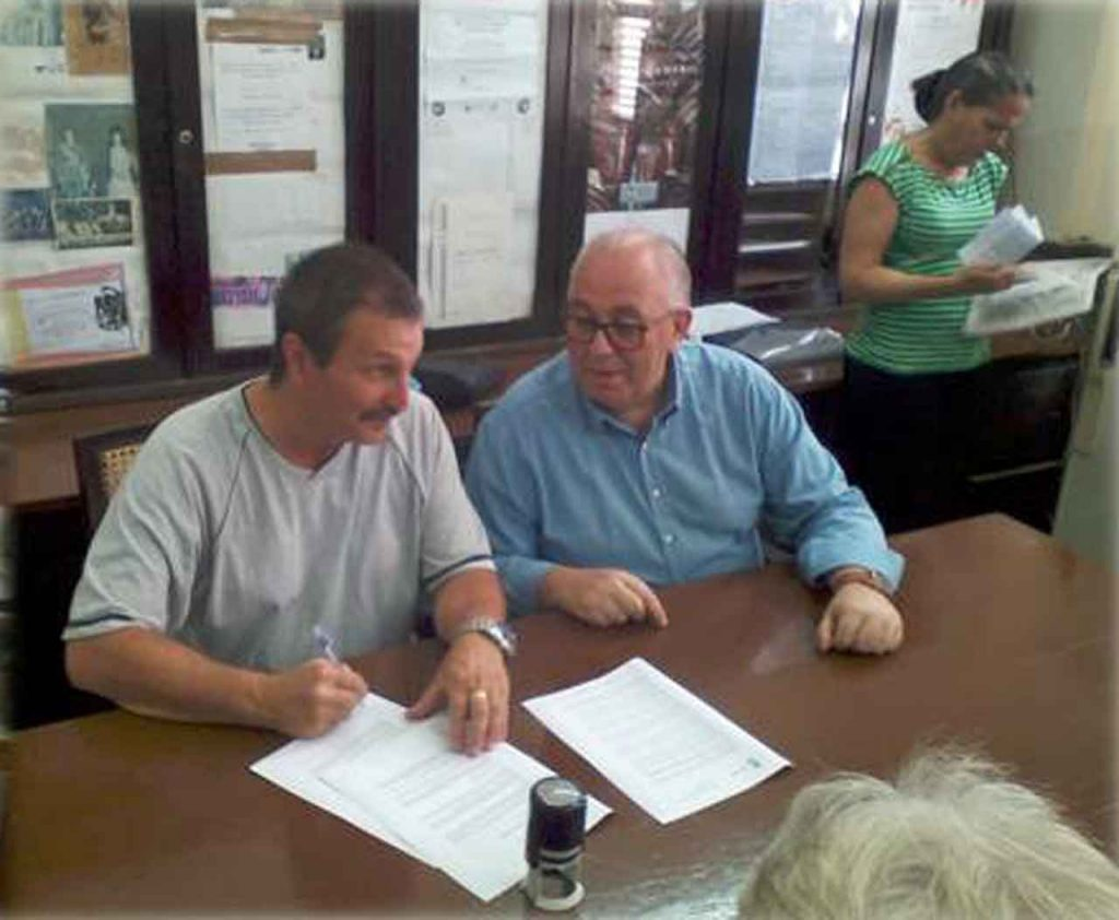 Manuel Rodríguez Barreiro y Andrés García Cardeso.