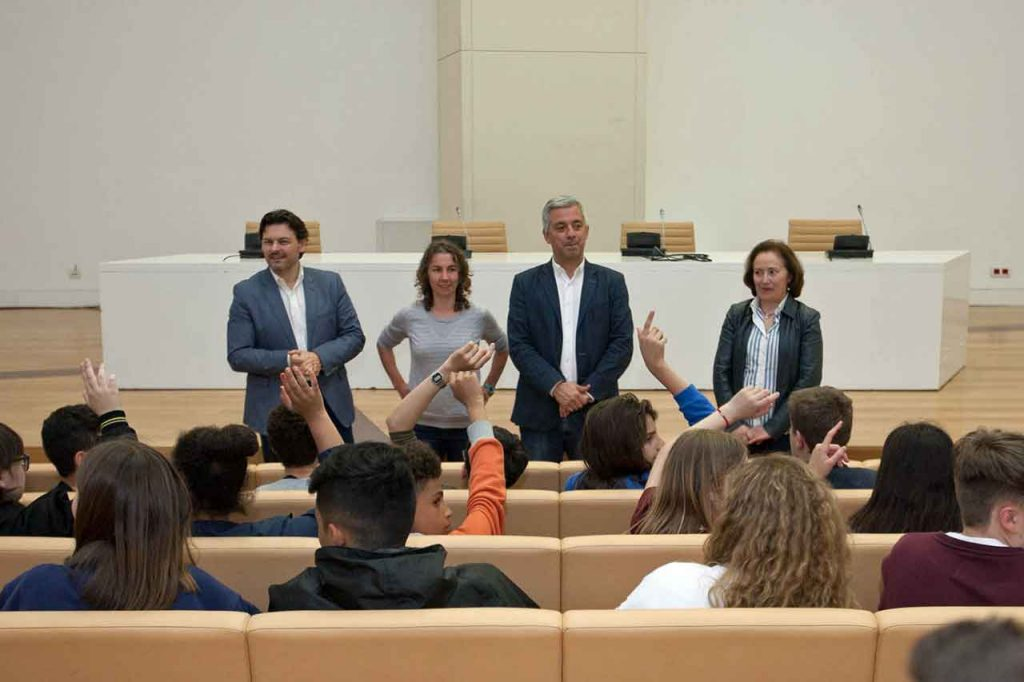 Antonio Rodríguez Miranda, Begoña González, Valentín García y María Lourdes Batán Aira.