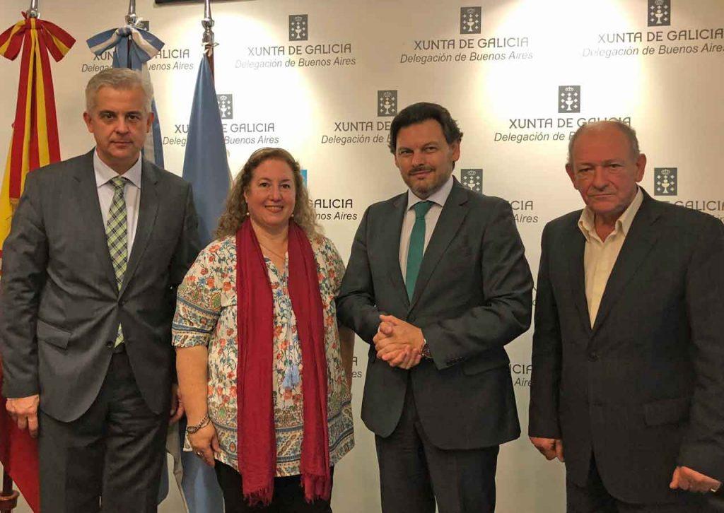 Alejandro López Dobarro, María Fernanda Vidal, Antonio Rodríguez Miranda y Bernardo Rey González.