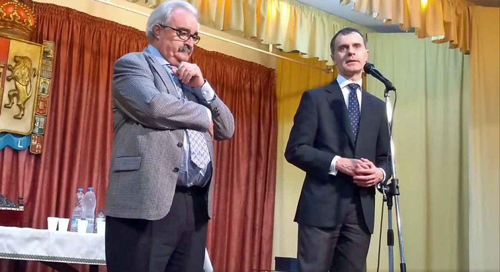 Luis García, presidente de Fescu, y José Manuel Herrero.