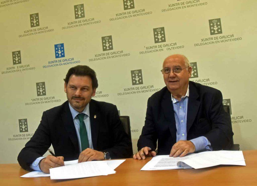 Miranda firma el convenio con Manuel Ramos.