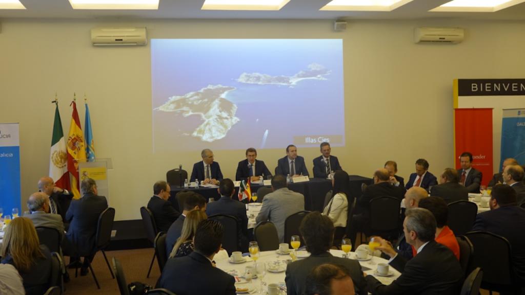 El presidente de la Xunta participó en el foro 'Oportunidades de Inversión en Galicia'.