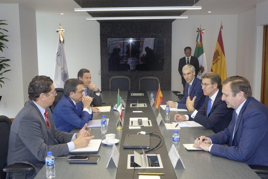 El presidente de la Xunta se reunió con el secretario de Economía del Gobierno de México, Ildefonso Guajardo.