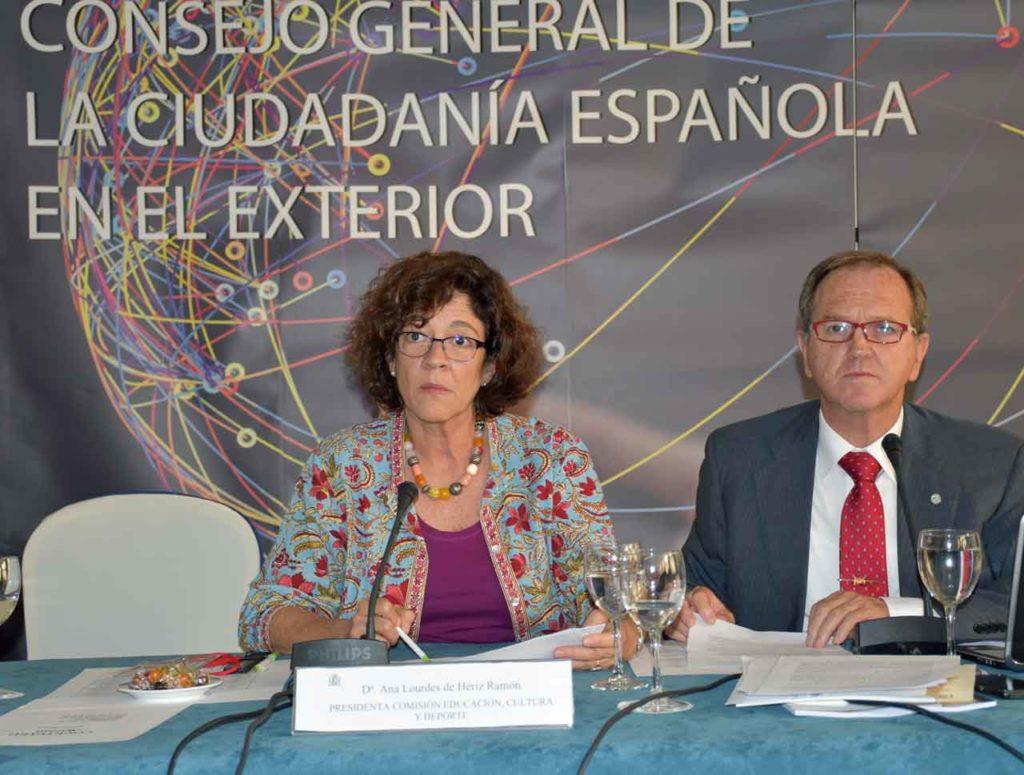 Ana Lourdes de Hériz presentó las propuestas en materia educativa.