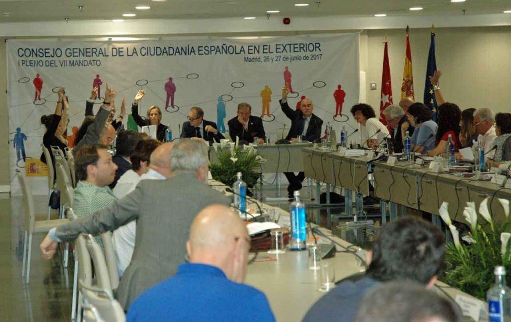 Imagen del último pleno del CGCEE celebrado hace un año en Madrid.