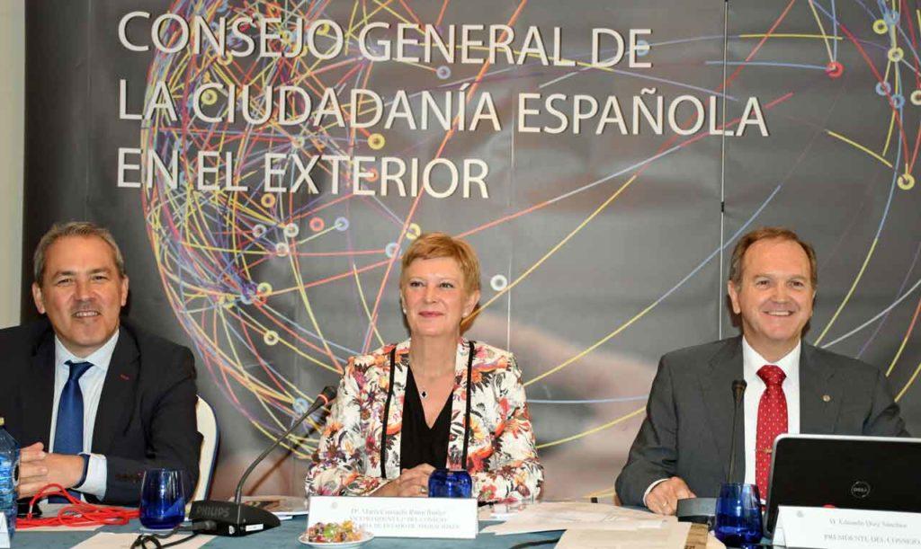 Agustín Torres, Consuelo Rumí y Eduardo  Dizy.