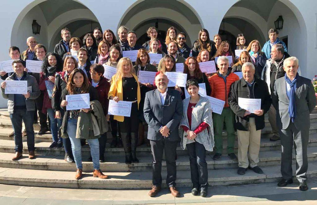 Los participantes en el curso celebrado en el Lar Gallego de Chile.