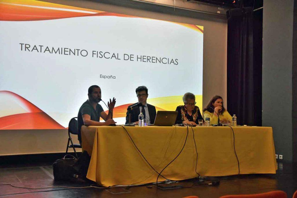Un momento del seminario sobre el tratamiento fiscal de las herencias.