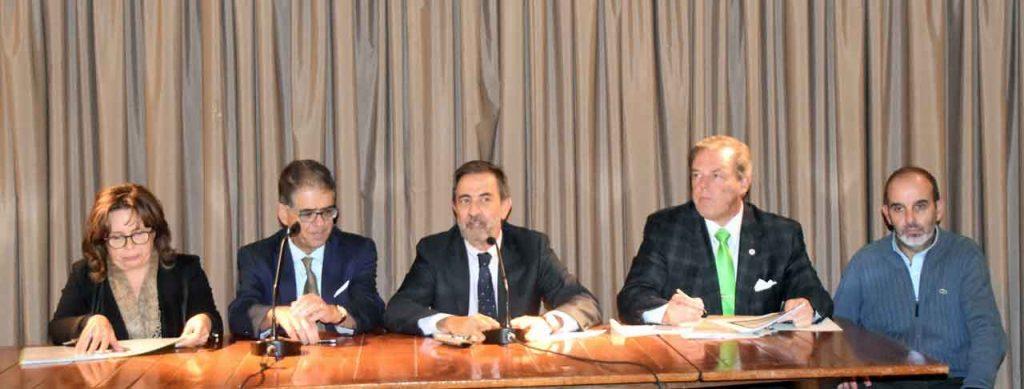 Inmaculada Cedrés, Benito Díez, José Rodríguez Moyano, Jorge Torres y José Antonio Fernández.