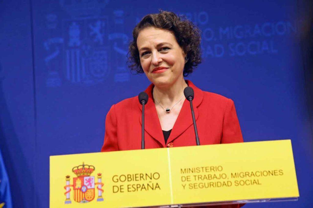 Primeras palabras de Magdalena Valerio como nueva ministra de Trabajo, Migraciones y Seguridad Social.