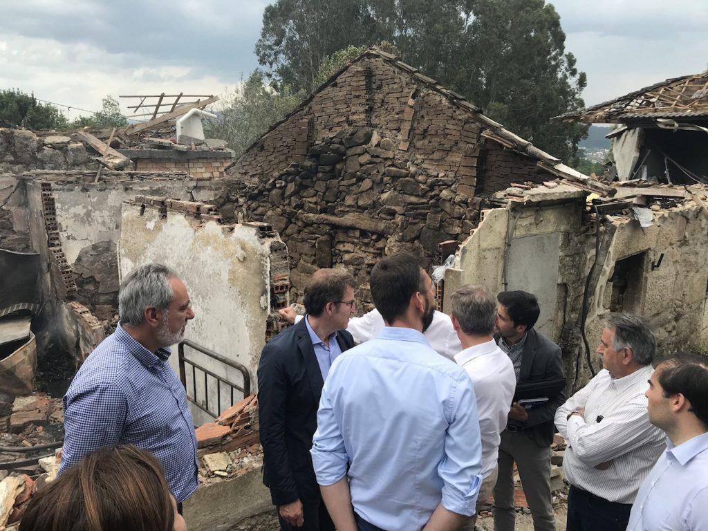 La deflagración destruyó por completo varias casas.