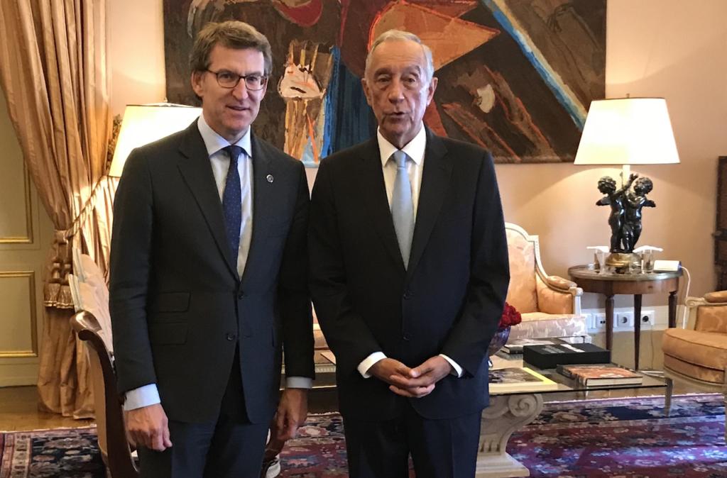 El presidente de la Xunta se reunió  con el presidente de la República Portuguesa, Marcelo Rebelo de Sousa.